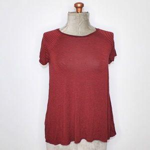 🎀3/$30 George Basic Red Striped Tee XS